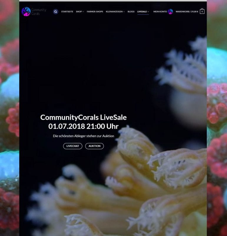 CommunityCorals LiveSale am 01.07.2018 ab 21:00 Uhr!