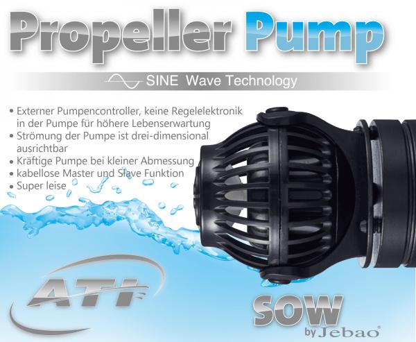 ATI Jebao Propeller Pump SOW-20Leistung bis 20.000 l/h Ersetzt OW-50