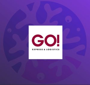 Logo für die Zusammenarbeit von CommunityCorals und GO! Express & Logistics