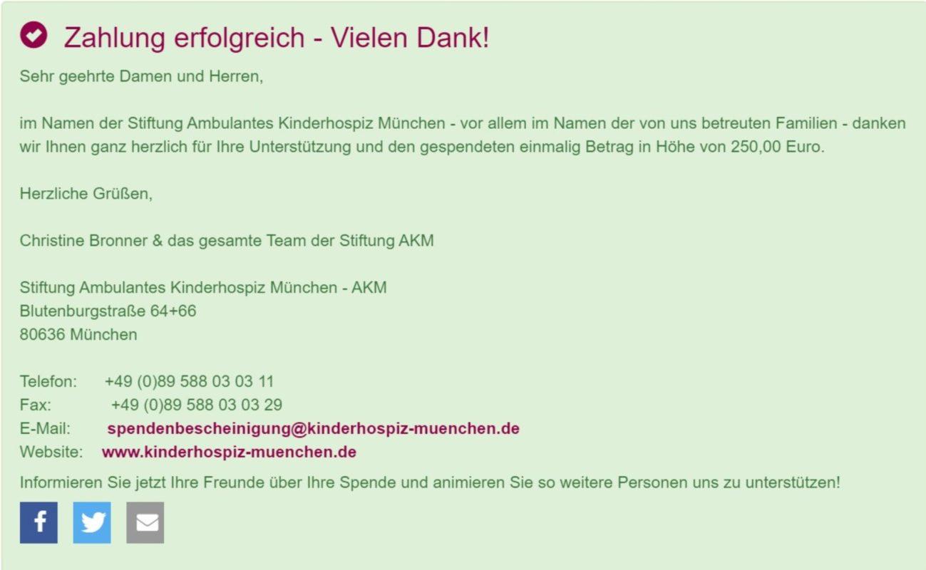 Chalice Master für das Kinderhospitz München