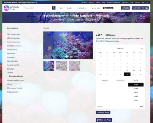 Korallen vor Ort kaufen und verkaufen